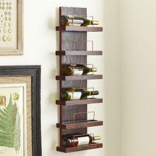 Gomez 6 Bottle Wall Mounted Wine Rack