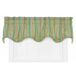 Englewood Lined Cotton Blend Rod Pocket Scalloped Curtain Valance
