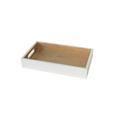 Zipcode Design Lake Park Tray with Handles Size: 2 H x 12.2 W x 7.5 D