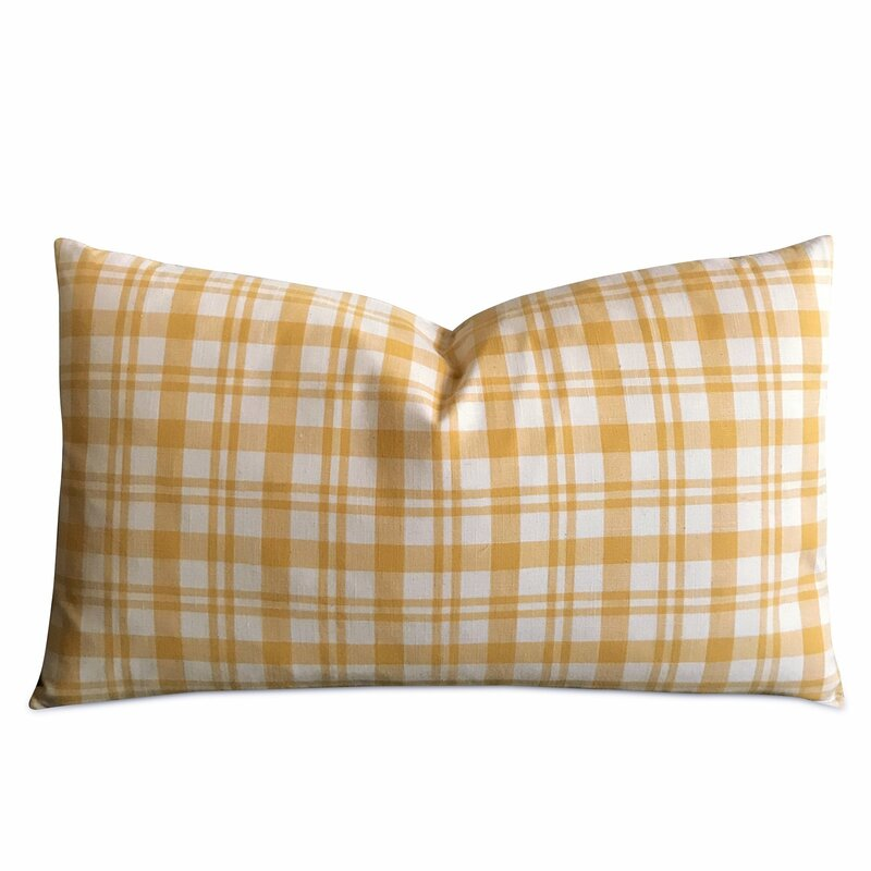 Heins French Country Plaid Decorative Pillow Cover