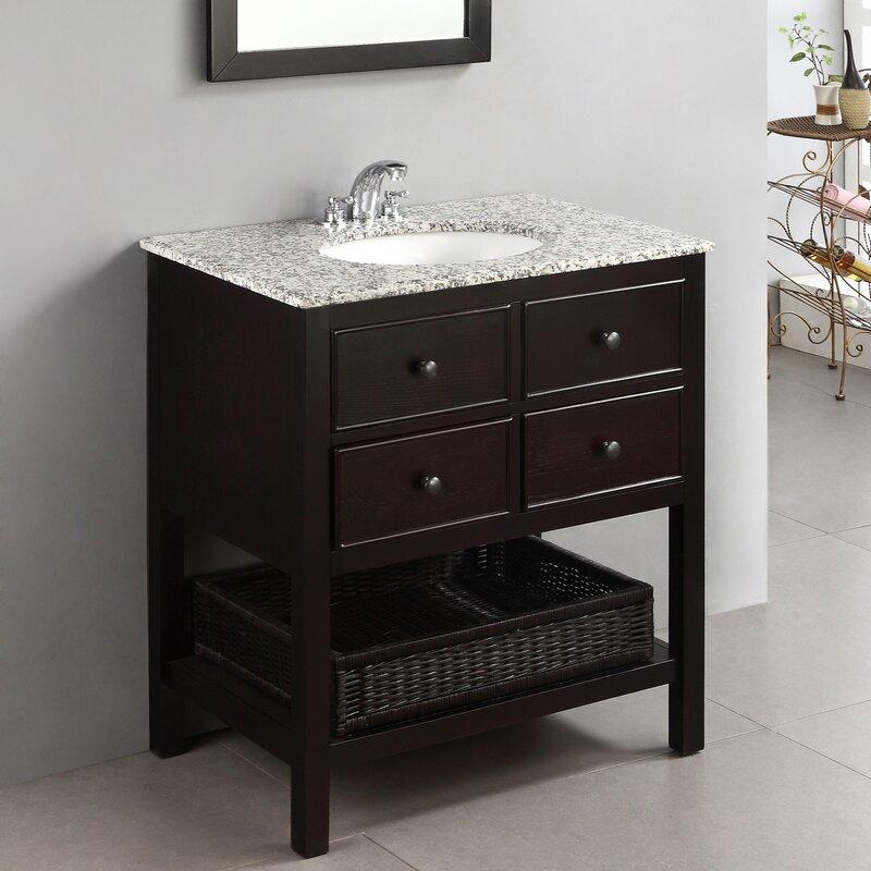 """Bathroom Vanities With Drawers alcott hill gettysburg 30"""" single bathroom vanity set & reviews"""