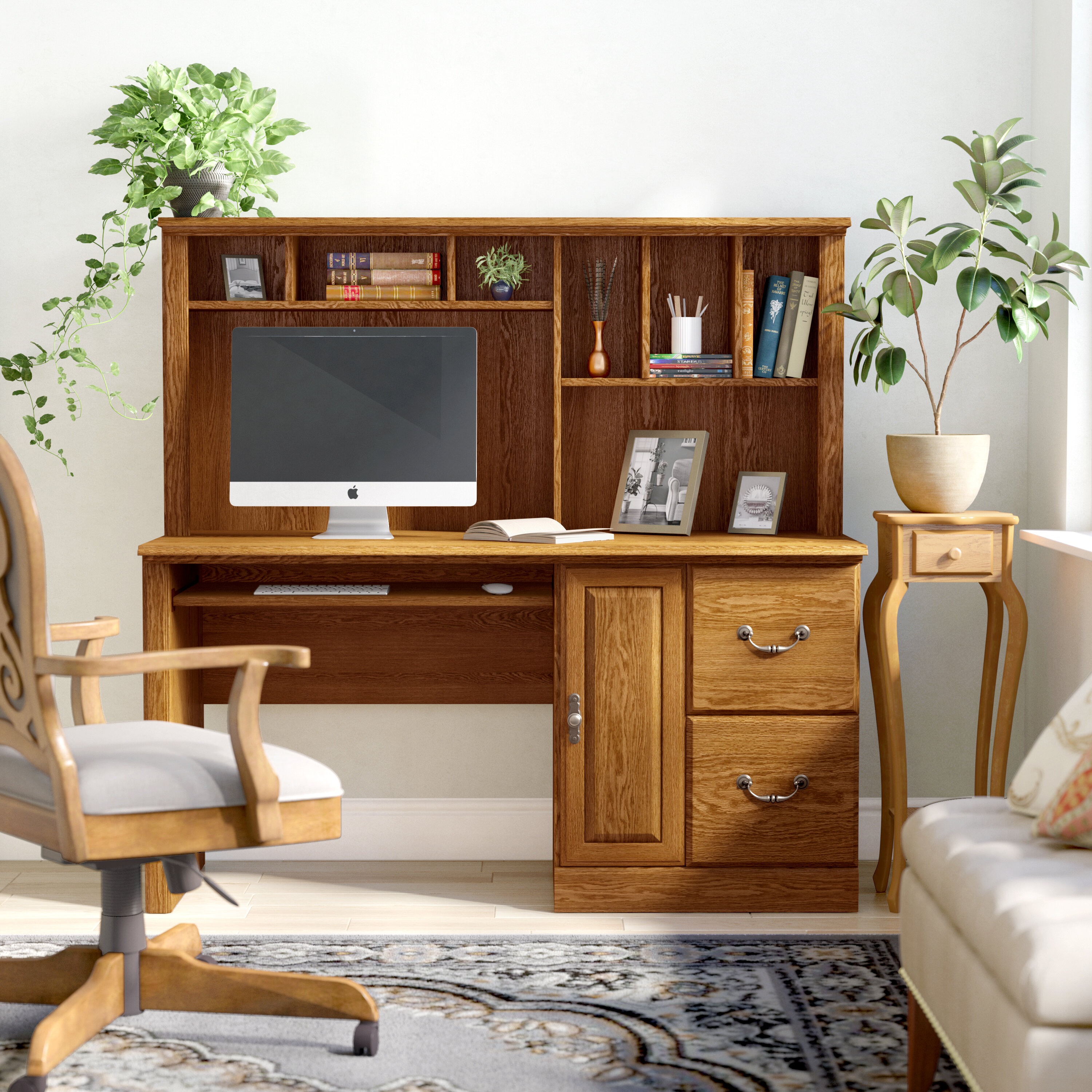 desks with desk image computer ideas and popular furniture drawers decor hutch of home