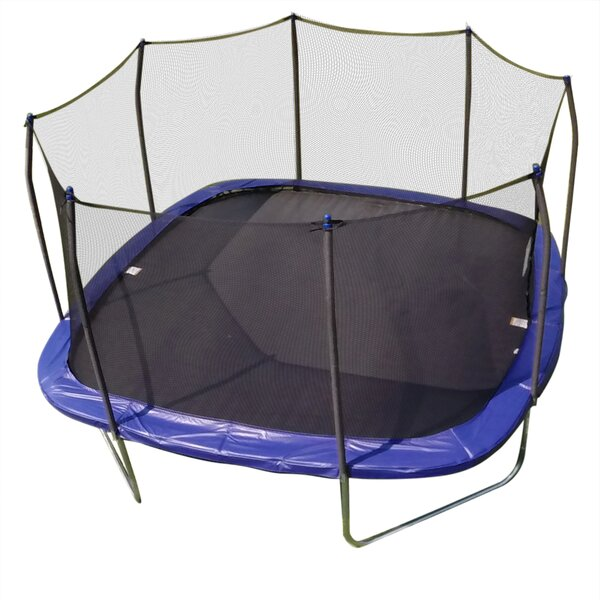 Skywalker 14 Foot Square Trampoline And Enclosure With