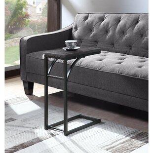 Elegantly Charmed Metal Snack Table Grey And Black