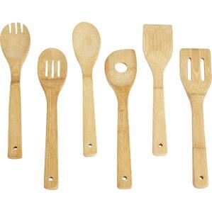 Wayfair Basics 6 Piece Bamboo Utensil Set