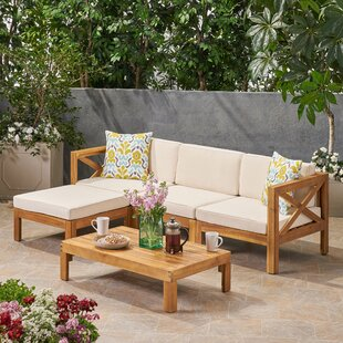 Wood Sectional Patio Furniture.Outdoor Sectional Sets Joss Main