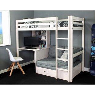 Adult Full Loft Bed With Desk Wayfair Co Uk