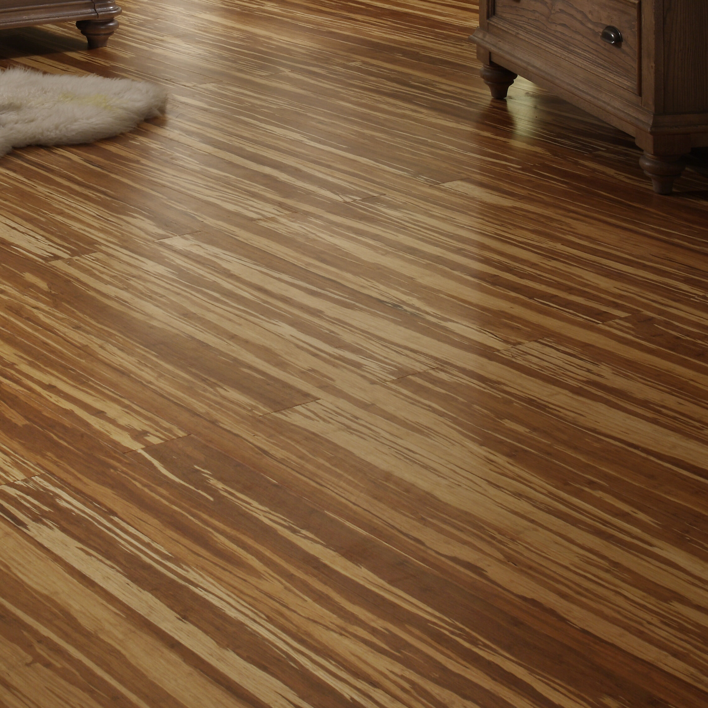 "Easoon USA 4 3 4"" Solid Strand Woven Bamboo Flooring in"