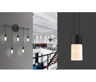 Kaleigh Staggered 5 Light Led Wall Sconce