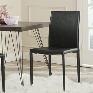 Karna Genuine Leather Upholstered Dining Chair Set Of 2