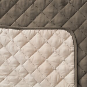 Reversible Quilted Box Cushion Loveseat Slipcover