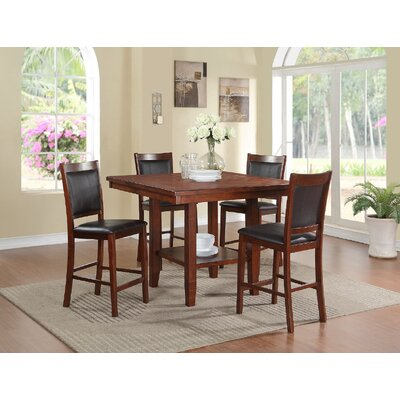 Lovely Kaneshiro 5 Piece Counter Height Dining Set