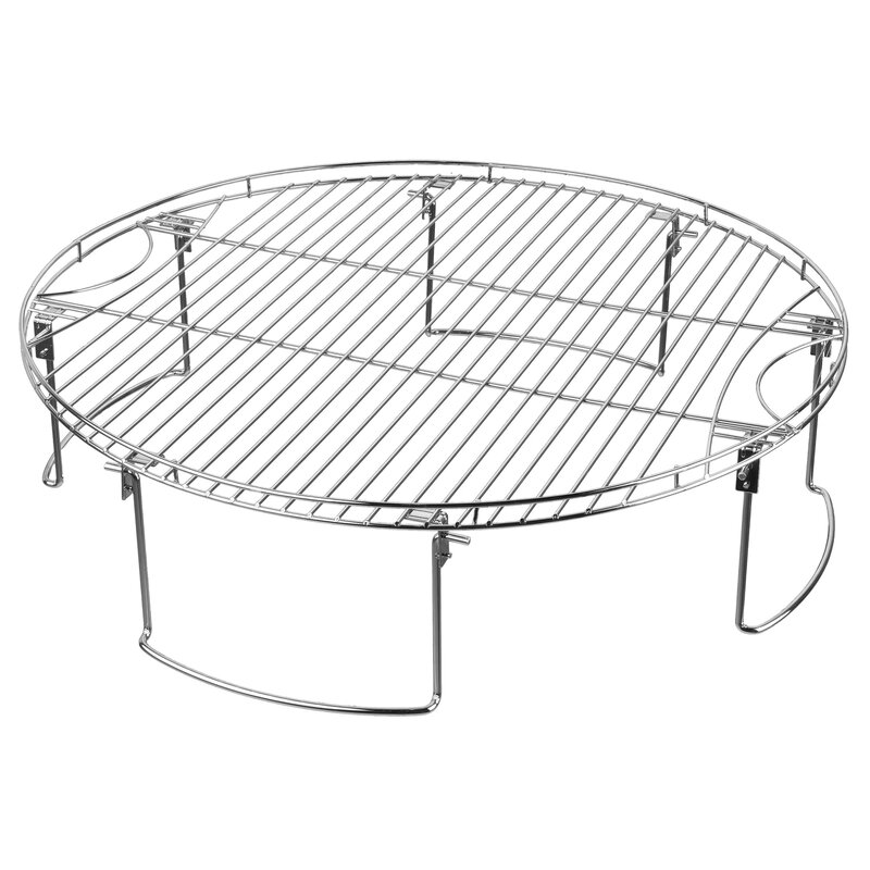 Mr Bar B Q Large Round Cooking Grate With Folding Legs