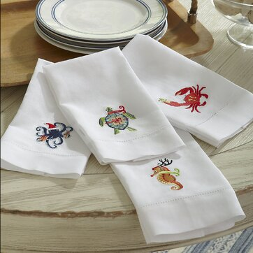 Holiday Seahorse Hand Towel (Set of 2)