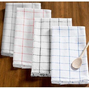 Zinia Grid Kitchen Hand Towel (Set of 2)