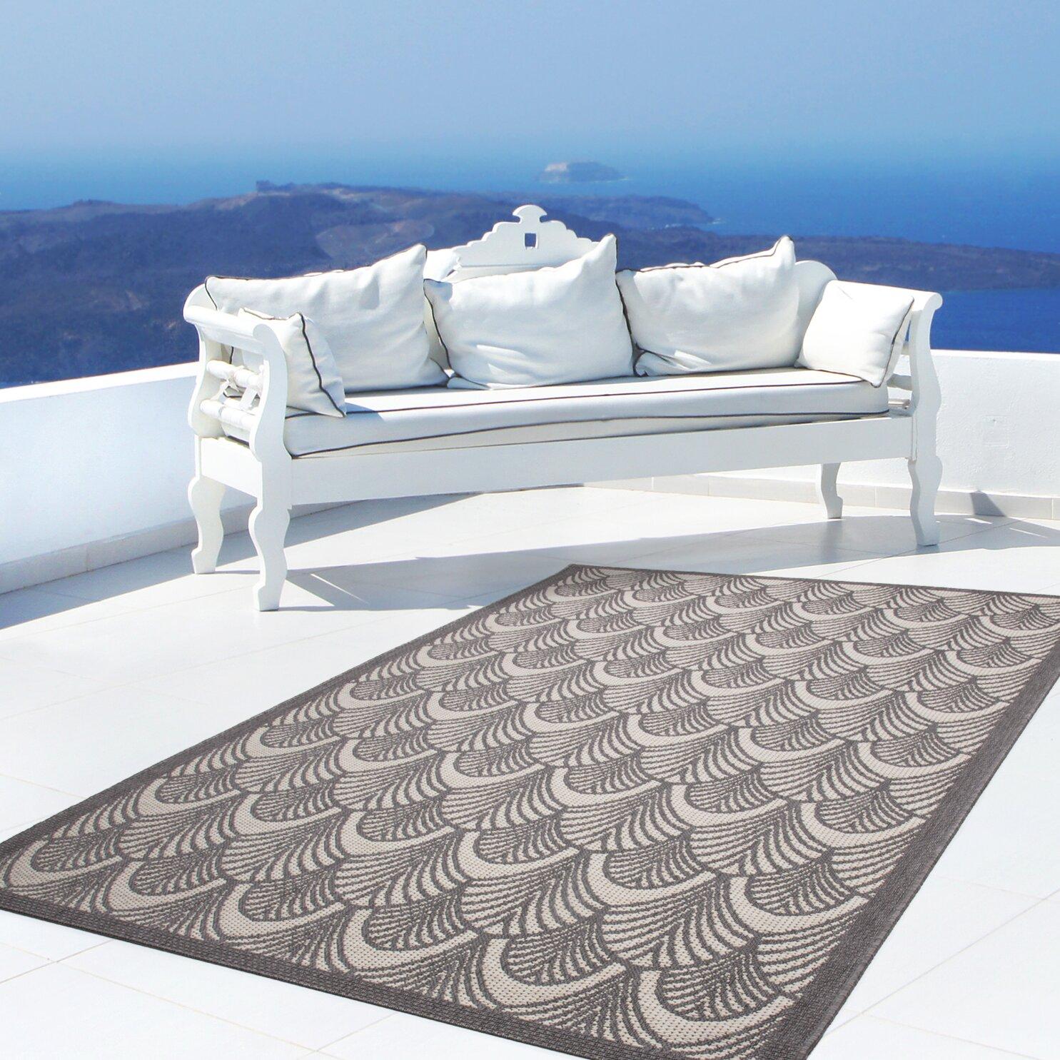 kayoom innen au enteppich equator 380 in grau elfenbein. Black Bedroom Furniture Sets. Home Design Ideas