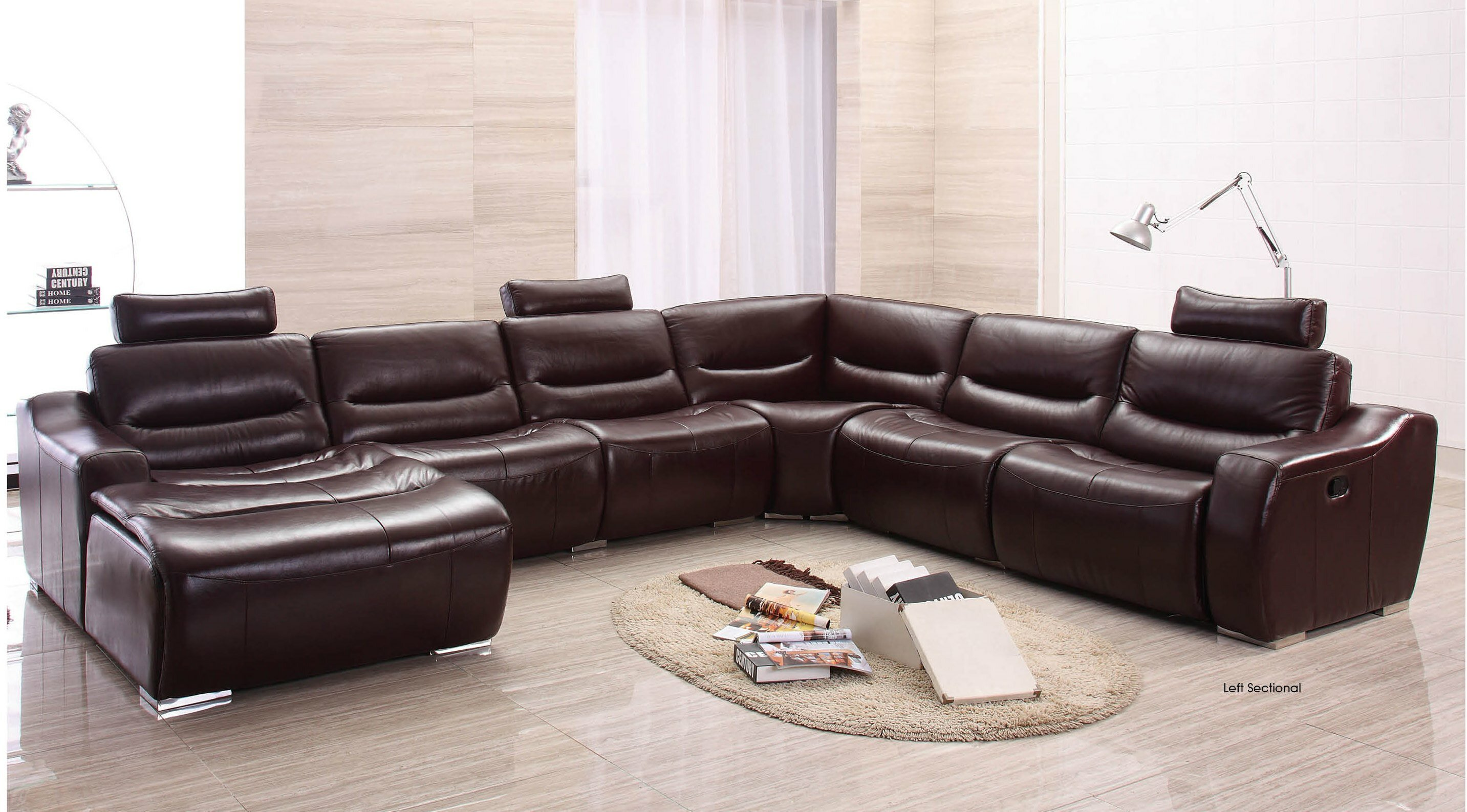 number item furniture sectional standard pillow sofa with north reclining leather products shore