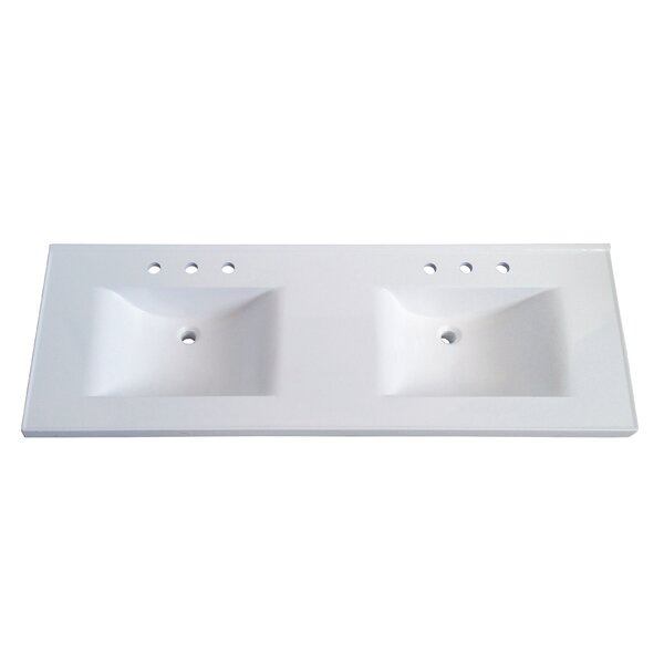 double vanity sink top. Premier 61  Double Bathroom Vanity Top Tops You ll Love Wayfair