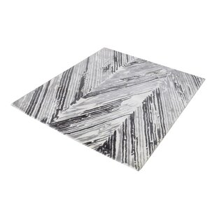 Compare prices Silvester Hand-Woven Gray/White Area Rug By Wrought Studio