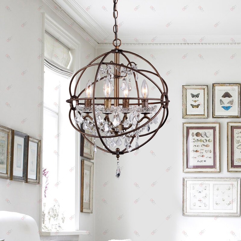 burlap rectangular chandelier mini or small chandeliers youll love