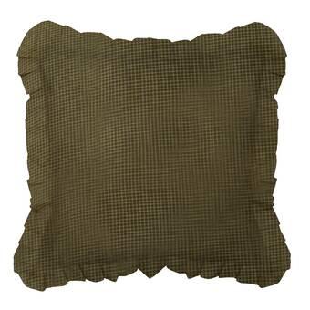 The Pillow Collection Portia Solid Bedding Sham Creme European//26 x 26