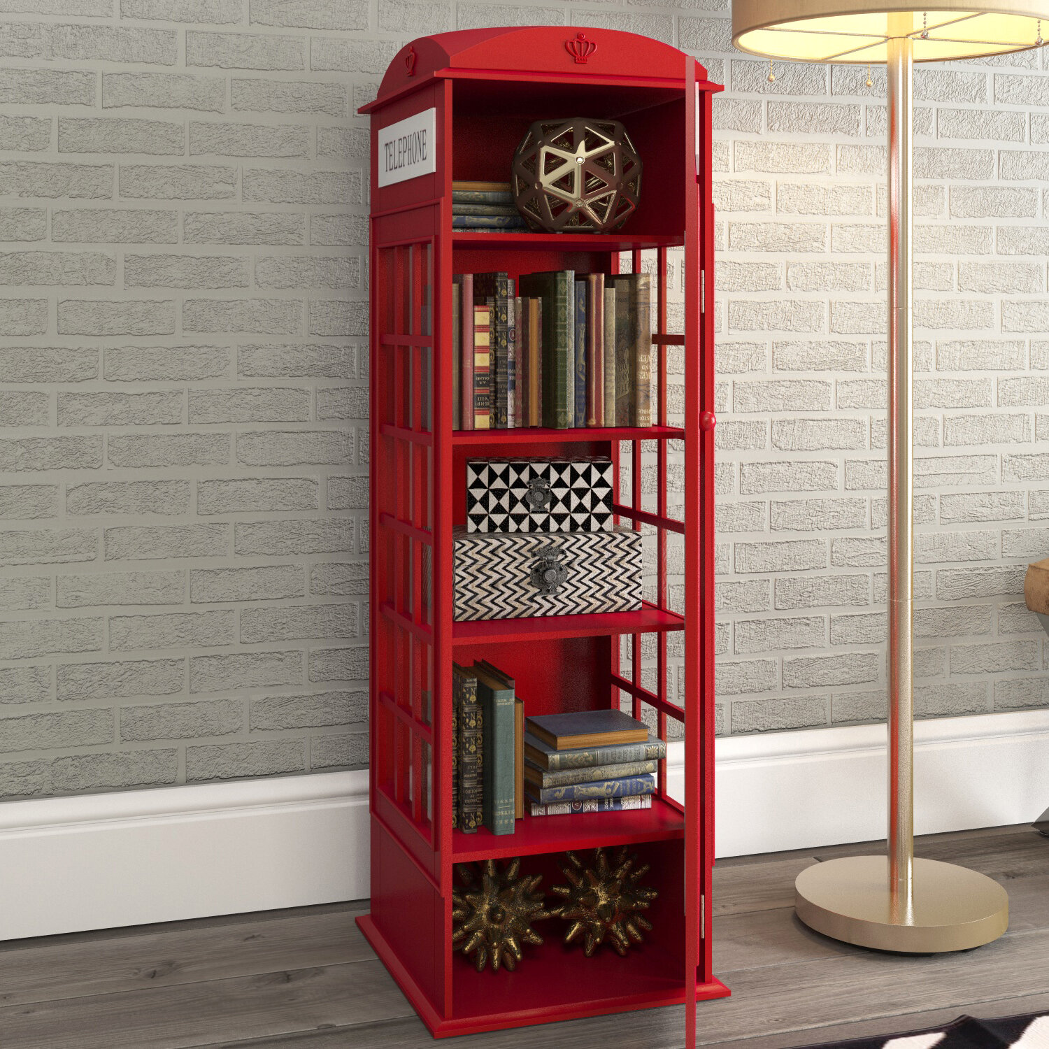 Ordinaire Red Barrel Studio Rodriques Phone Booth Storage Accent Cabinet U0026 Reviews |  Wayfair