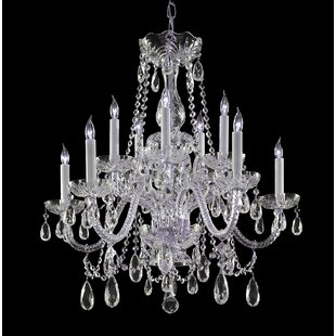 Bohemian crystal chandelier wayfair bohemian 10 light crystal chandelier mozeypictures Image collections