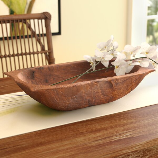 Bay Isle Home Glenfield Deep Wooden Dough Bowl With
