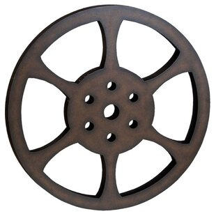 Hollywood 32 Metal Film Reel Home Movie Theater Accent Art Wall Decor