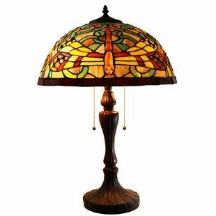 Warehouse of tiffany table lamps youll love wayfair zuwena 2 light dragonfly tiffany style 16 table lamp aloadofball Choice Image