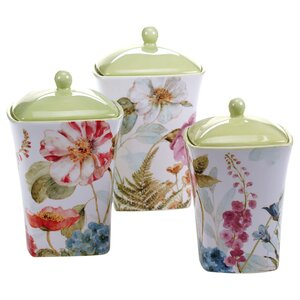 Acanthe 3 Piece Canister Set