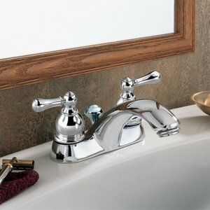 Hampton Centerset Double Handle Bathroom Faucet with Drain Assembly