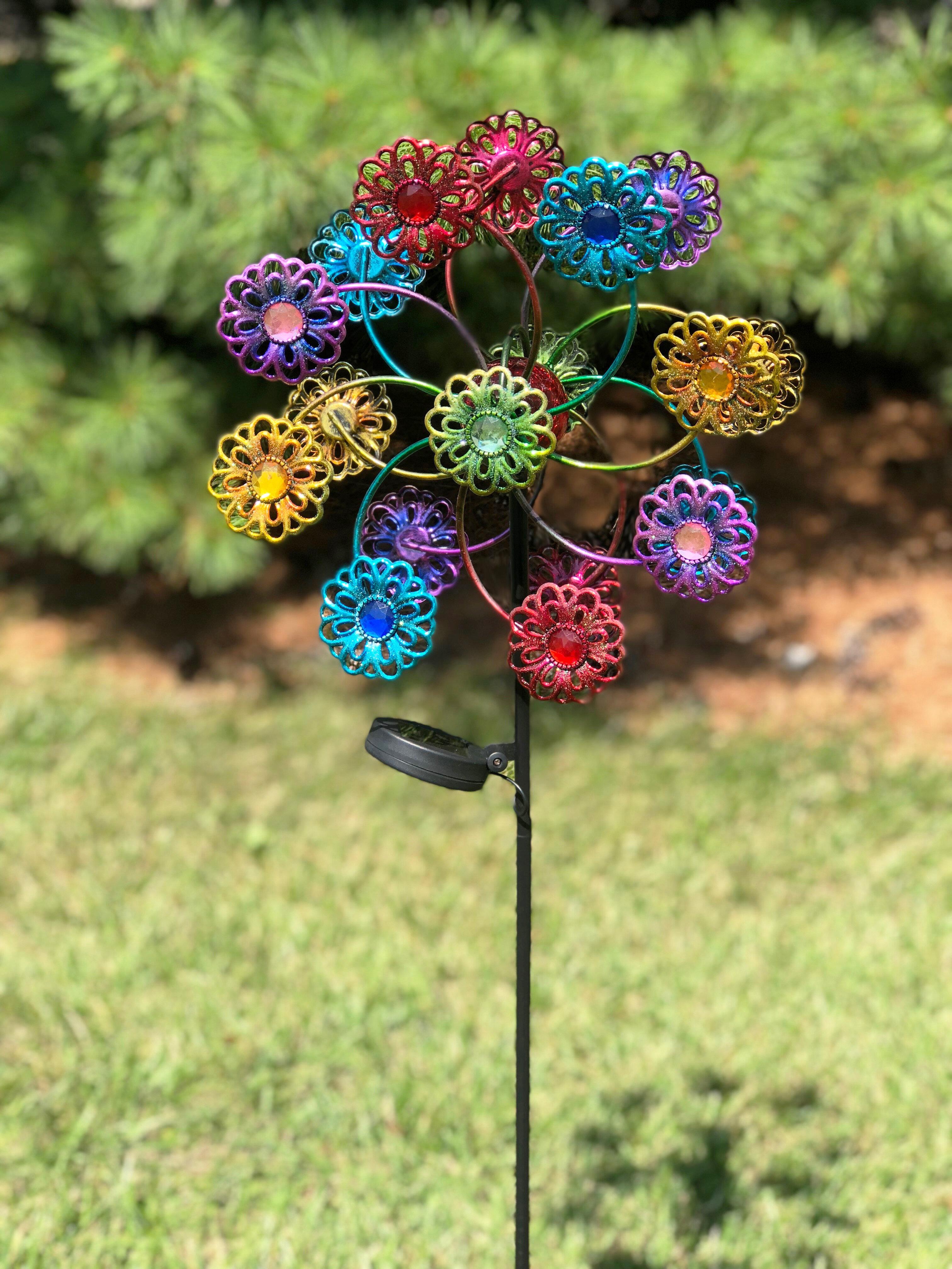 Spinner Solar Faucet Flower Rotator