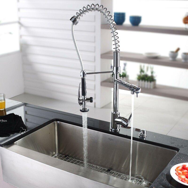 Khf200 36 Kpf1602 Ksd30ch L X 21 W Farmhouse Kitchen Sink With Faucet And Soap Dispenser