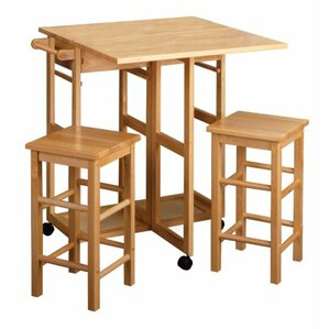 3 Piece Coutner Height Dining Set by Luxury Home