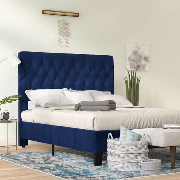 Bronx Blue Bedroom Project: Ivy Bronx Kirtley Upholstered Panel Bed & Reviews