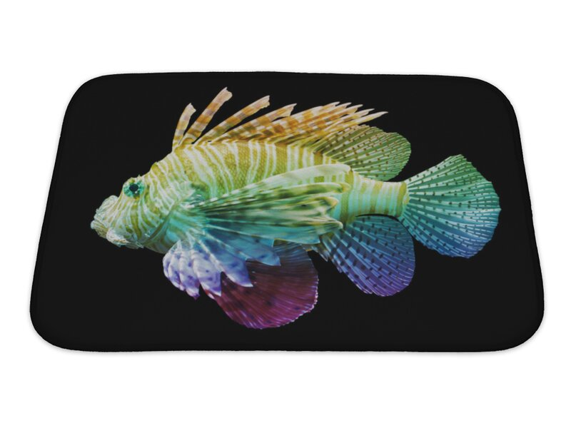 Beautiful fish bath mat motif custom bathtubs for Fish bath rug