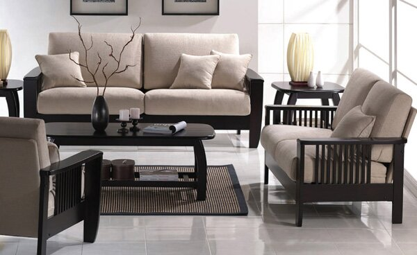 Marvelous Mission Style Configurable Living Room Set