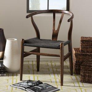 baxton studio wishbone solid wood dining chair - Wishbone Chair