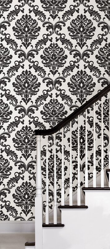 Wallpops 18 L X 20 5 Quot W Damask Peel And Stick Wallpaper