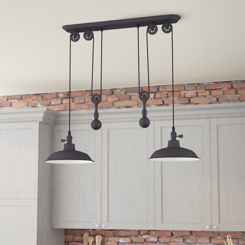 Trent Austin Design Ariel 2 Light Kitchen Island Pendant