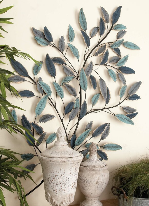 Cole grey leaf wall d cor reviews for Decor containers coles