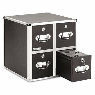 Vaultz Locking 4 Drawer CD File Cabinet