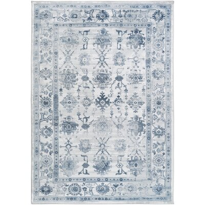 Three Posts Wesham Power-Loomed Navy/Blue Area Rug Rug Size: Rectangle 6'7 x 9'