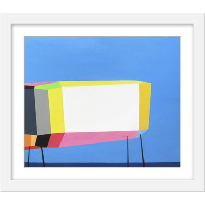 Wrought Studio 'California Surfer's House' Framed Graphic Art Print Size: 28.75 H x 35.75 W x 1.25 D