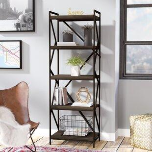 derwood metal distressed etagere bookcase - Distressed Bookshelves