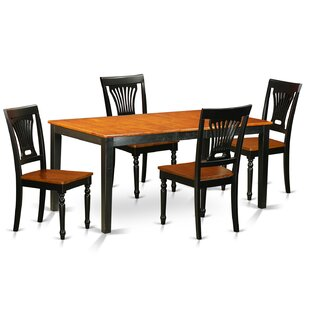 Cleobury 5 Piece Dining Set with Rectangular Table Top