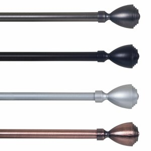 Urn Single Curtain Rod & Hardware Set