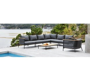 Riad Teak Patio Sectional With Cushion
