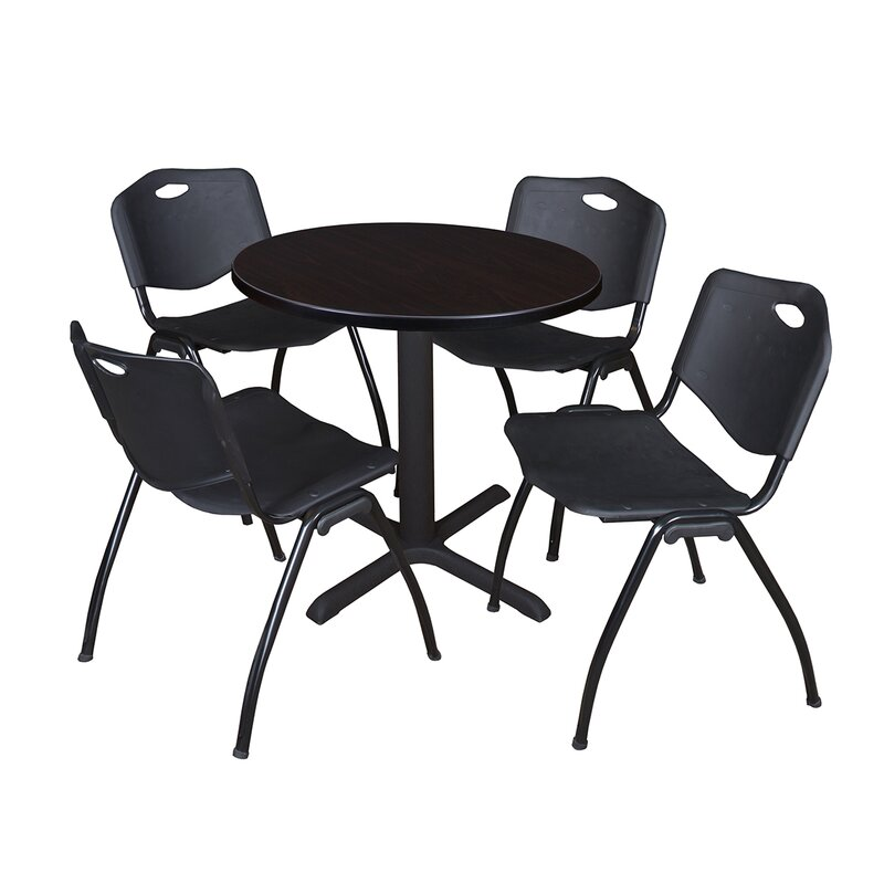 Regency Cain Piece Round Breakroom Table And Chair Set Wayfair - Break room table and chair sets